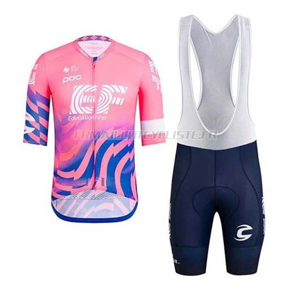 Maillot EF Education First Cuissard A Bretelles Rose 2020