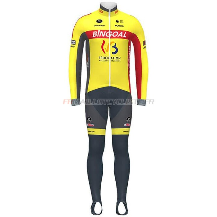 Maillot Wallonie Bruxelles Manches Longues Jaune Rouge 2020