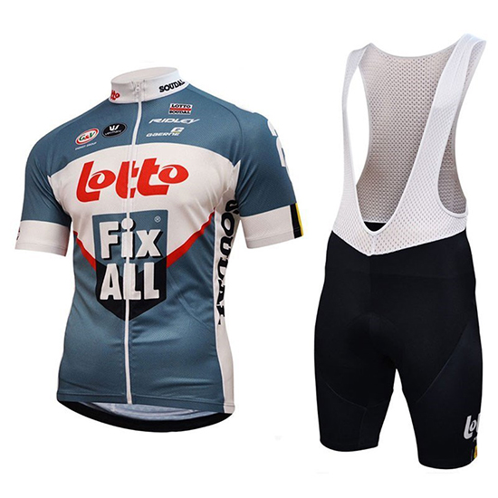 Maillot Lotto Fix All Manches Courtes Blanc Bleu 2018