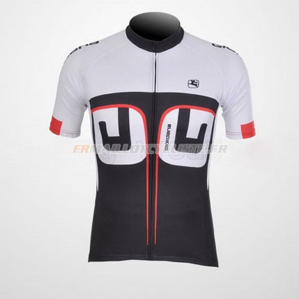 Maillot Giordana Manches Courtes Blanc 2012