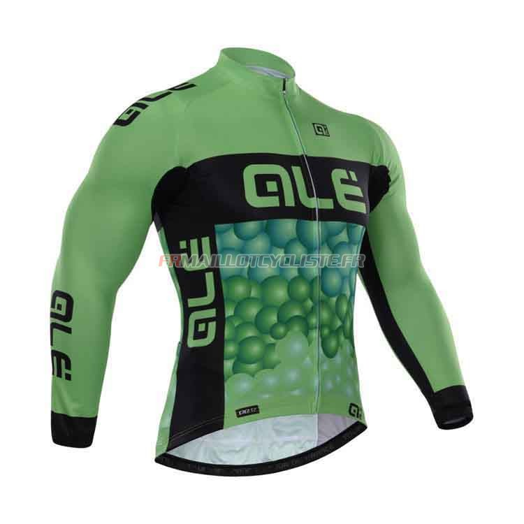 Maillot Giordana Longues Manches Vert 2015