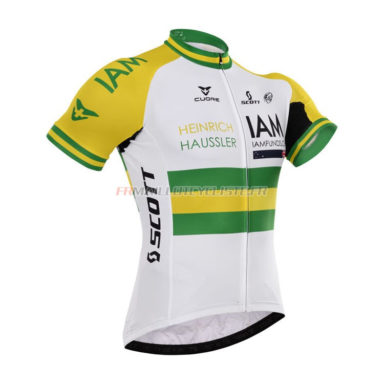 Maillot IAM Manches Courtes Blanc 2015