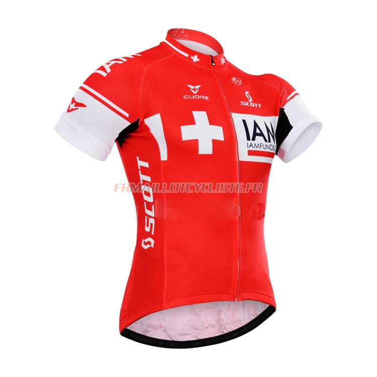 Maillot IAM Manches Courtes Rouge 2015