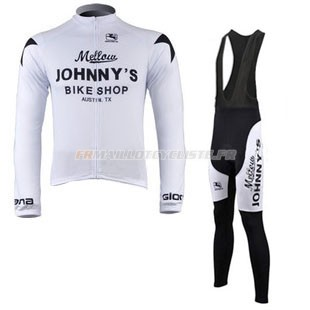 Maillot Johnnys Longues Manches Blanc 2010