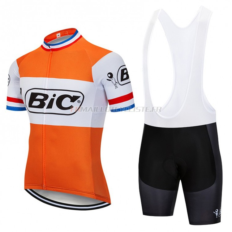 Maillot Bic Campione Pays-bas Manches Courtes orange 2018