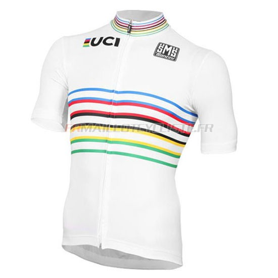 Maillot UCI Manches Courtes Blanc 2016