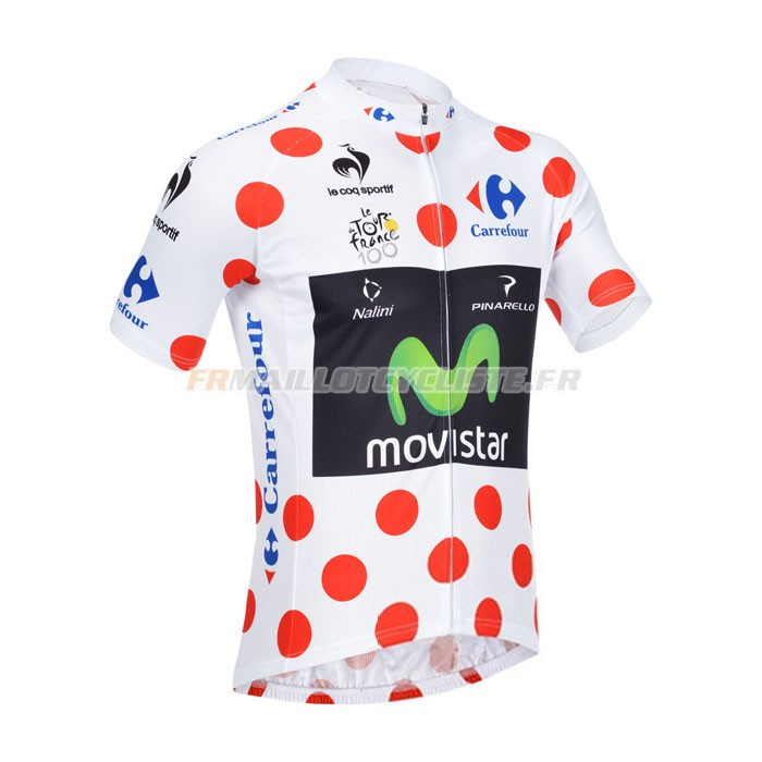 Maillot Movistar Manches Courtes Rouge 2013