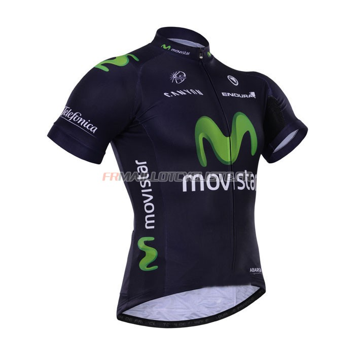 Maillot Movistar Manches Courtes 2015