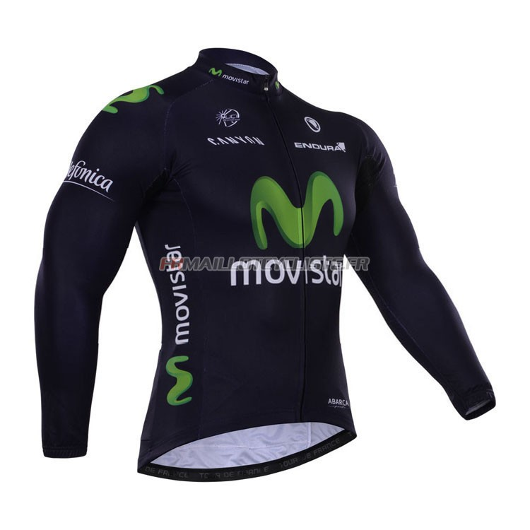 Maillot Movistar Longues Manches 2015