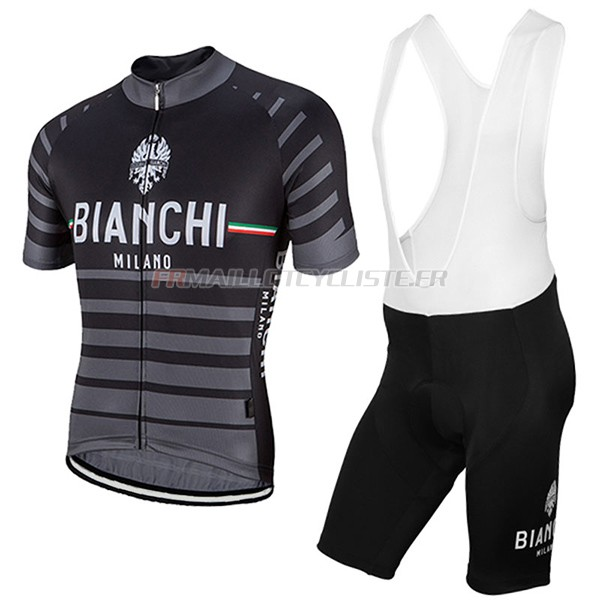 Maillot Bianchi Milano Albatros Manches Courtes gris 2017