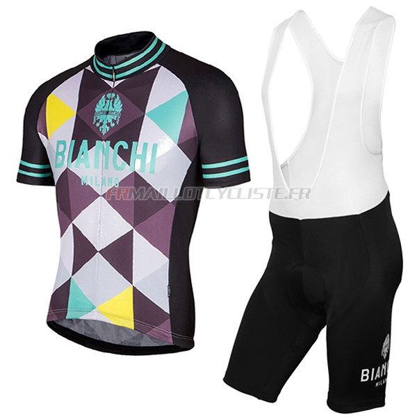 Maillot Bianchi Milano Aviolo Manches Courtes noir 2017