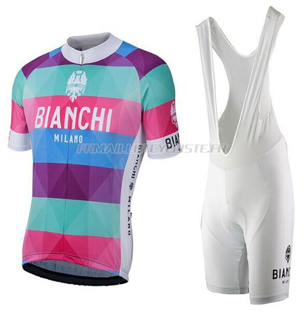 Maillot Bianchi Milano Aviolo Manches Courtes rouge 2017