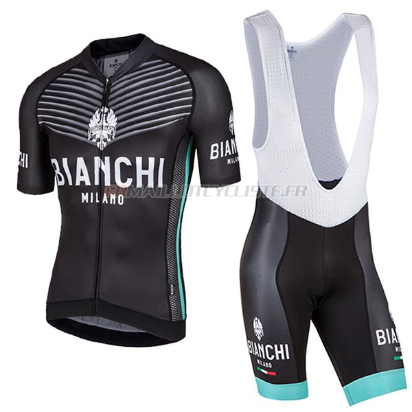 Maillot Bianchi Milano Ceresole Manches Courtes noir 2017