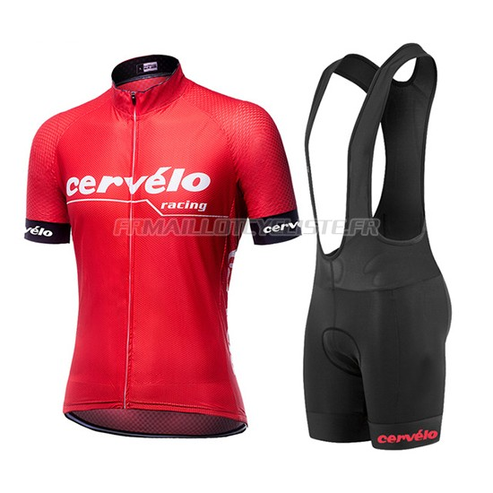 Maillot Cervelo Cuissard A Bretelles Rouge 2019