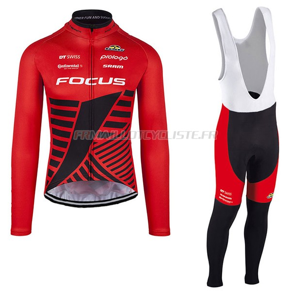 Maillot Focus XCLongues Manches scuro rouge 2017