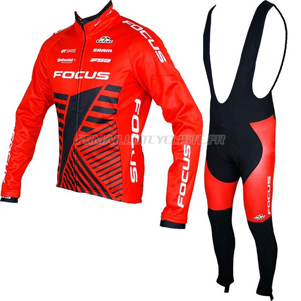 Maillot Focus XC Longues Manches rouge 2017