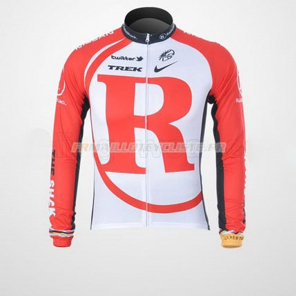 Maillot Radioshack Longues Manches Rouge 2011