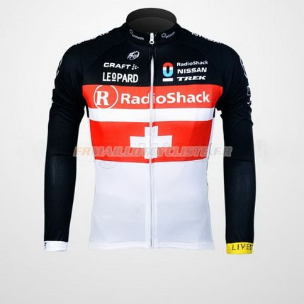 Maillot Radioshack Longues Manches Rouge 2012