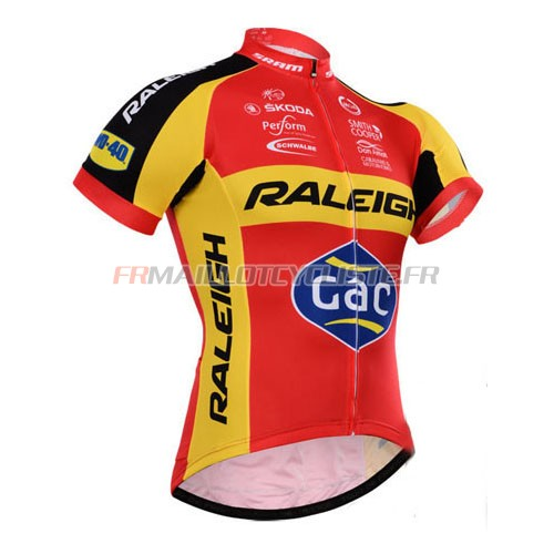 Maillot Raleigh Manches Courtes Rouge 2015