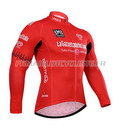 Maillot Longues Manches Giro D'Italia Le Coq Sportif Rouge 2015