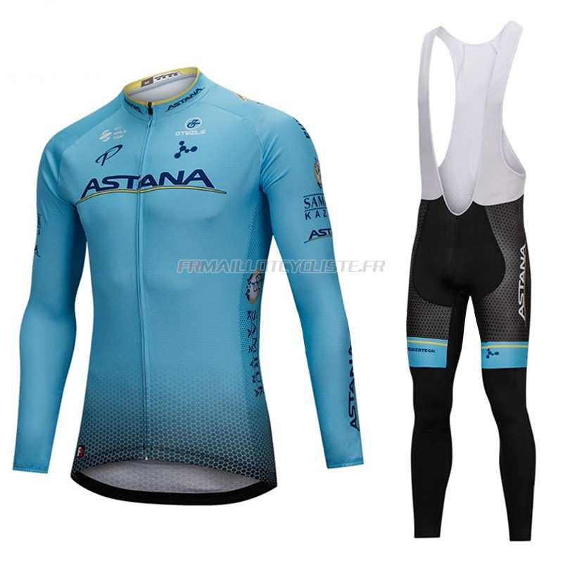 Maillot Astana Longues Manches Blu 2018
