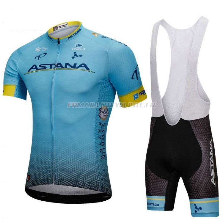Maillot Astana Manches Courtes Blu 2018