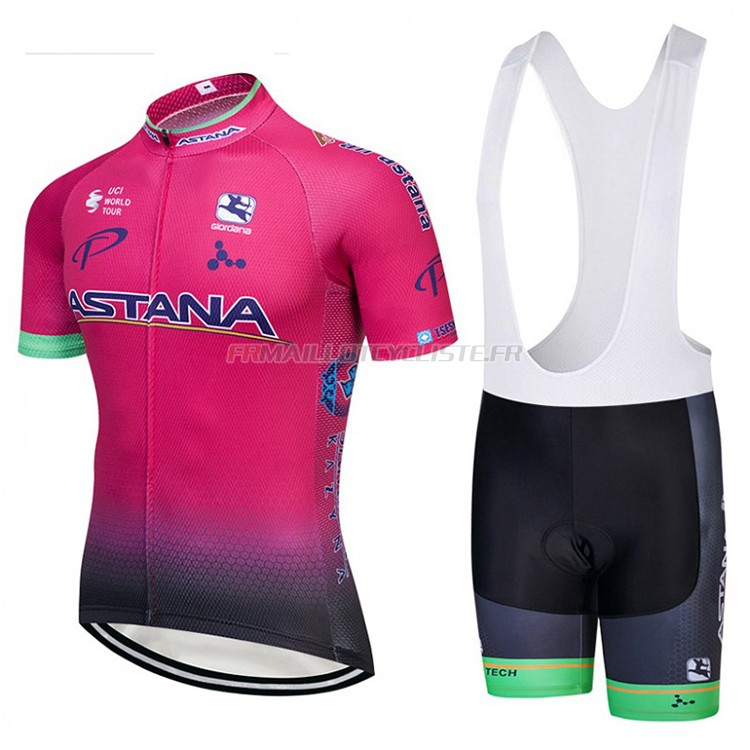 Maillot Astana Manches Courtes Rosa 2018