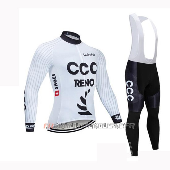 Maillot CCC Manches Longues Blanc 2019
