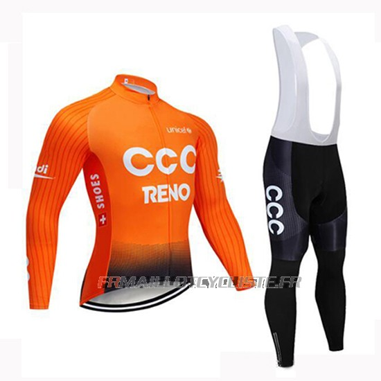 Maillot CCC Manches Longues Orange 2019