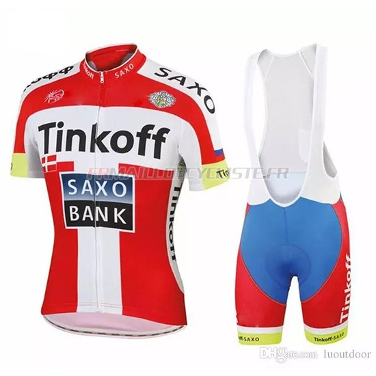 Tinkoff Saxo Bank Manches Courtes Rouge Blanc 2018